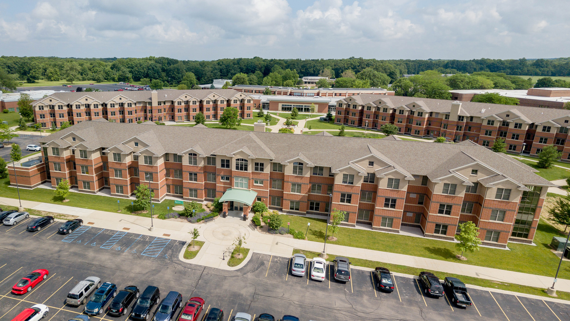 Aerial Photo of Residence Halls on the Dowagiac campus